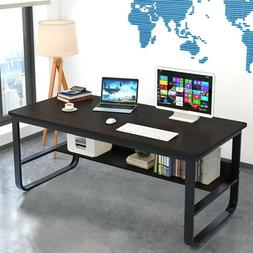 Study Work Home Office Computer Desk PC Laptop Table Wood Wo