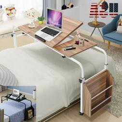 Adjustable Rolling Overbed Table Laptop Hospitable Bed Table
