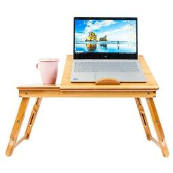 Bamboo Portable Folding Laptop Computer Notebook Table Bed D