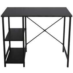 Black Computer Desk Home Office Study Workstation Table With