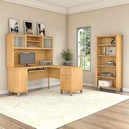 Copper Grove Busiek 60-inch L-shaped Maple Desk with Hutch B