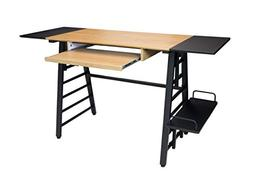 Convertible Desk in Graphite and Ashwood Finish