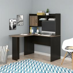 Desk L-Shaped Desk with Hutch Home Office Furniture Cubbies
