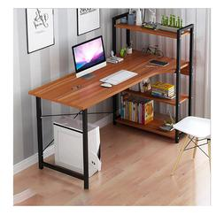 """H Shape Computer Laptop Desk 47""""L Modern Style with 4 Tiers"""