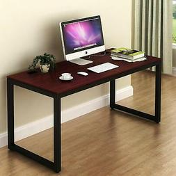 SHW Home Office 55-Inch Large Computer Desk, Cherry FREE SHI