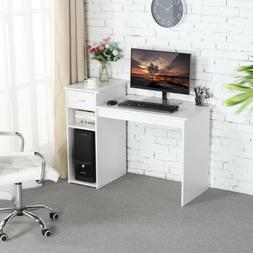 Home Office Computer Desk with Drawers & 2 Tier Storage Shel