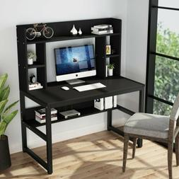 Home Office Computer Working Desk with Hutch and Shelf Parti
