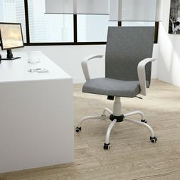 Home Office Desk Chair Removable Arms Mid-Back Height Adjust