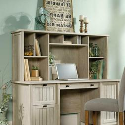 Home Office Desk in Chalked Chestnut Finish Table Hutch with