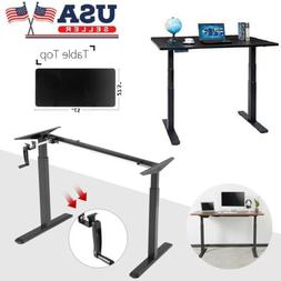 Home Office Height Width Adjustable Sit-Stand Standing Desk