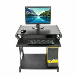 Home Office Roll Computer Desk PC Laptop Table Workstation w