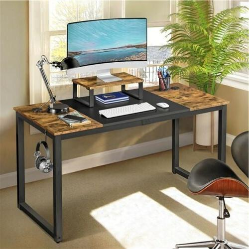 55 large computer desk with movable monitor