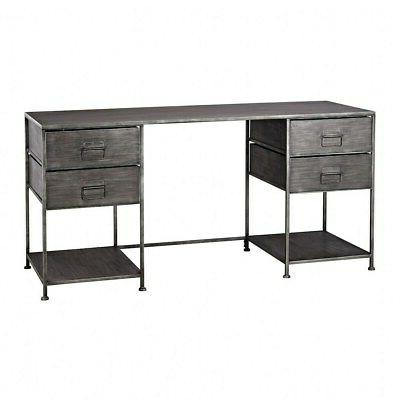 60 inch 4 drawer transitional style metal