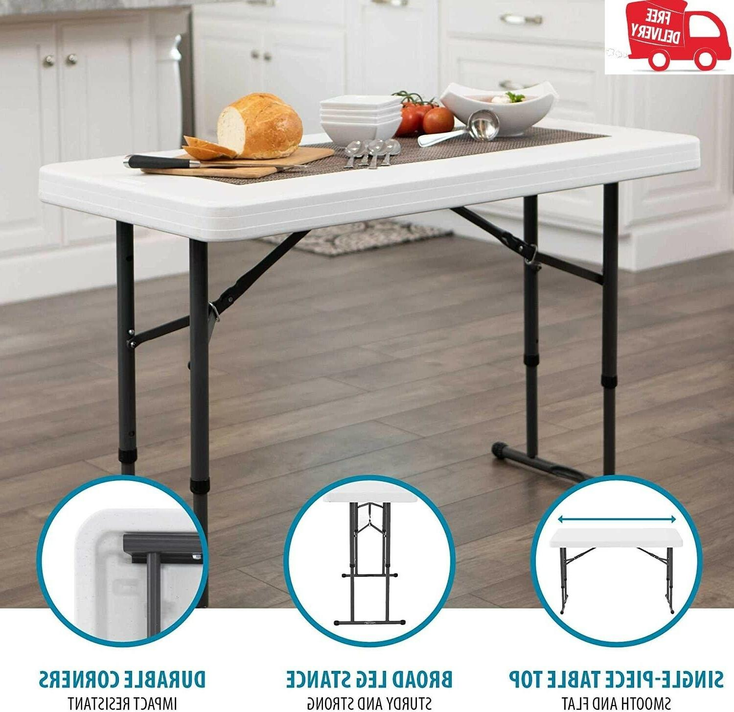 Lifetime 80160 Commercial Height Adjustable Table, 4 Feet,