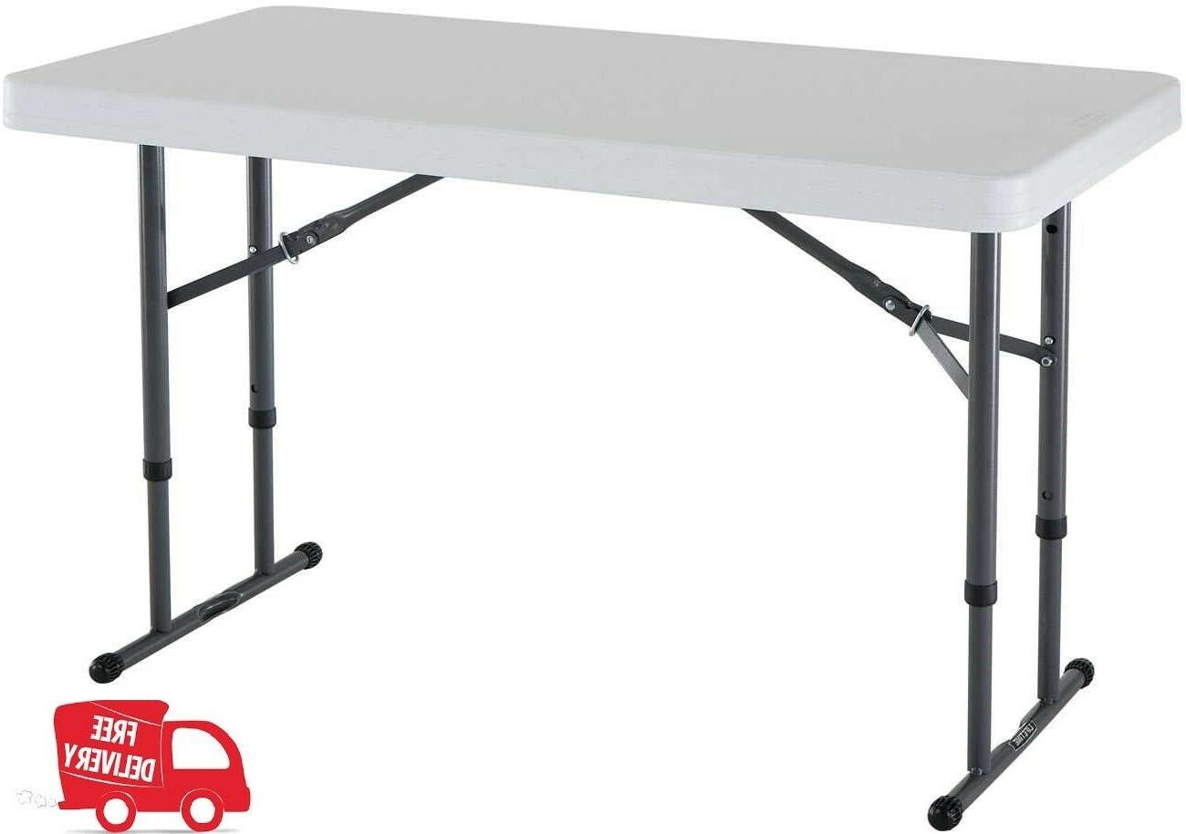 80160 commercial height adjustable folding utility table