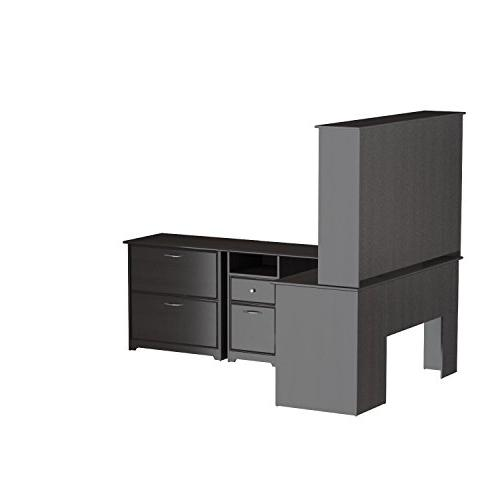 Bush Shaped Hutch and Lateral File in
