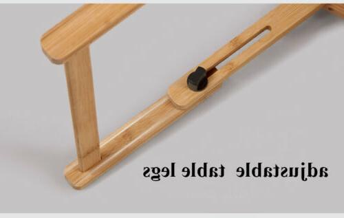 Adjustable Stand Bamboo Desk Bed