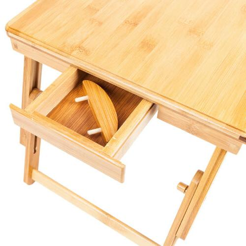 Bamboo Computer Desk Bed Tray