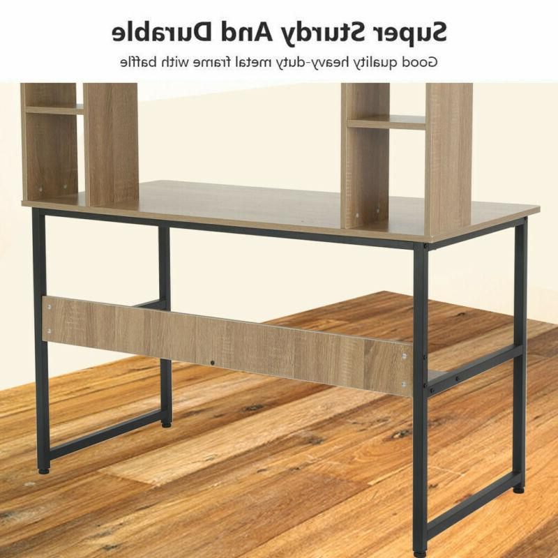 """47"""" Modern Computer Writing Hutch For Home Office"""