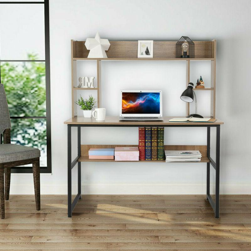 """47"""" Modern Computer Desk Writing Table Hutch For"""
