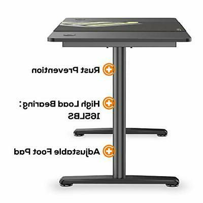 Computer Gaming Desk Inch, Laptop Table Workstation Free Mouse