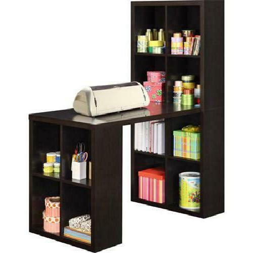 Hobby Espresso L Shaped Hutch Office Student Craft Table W