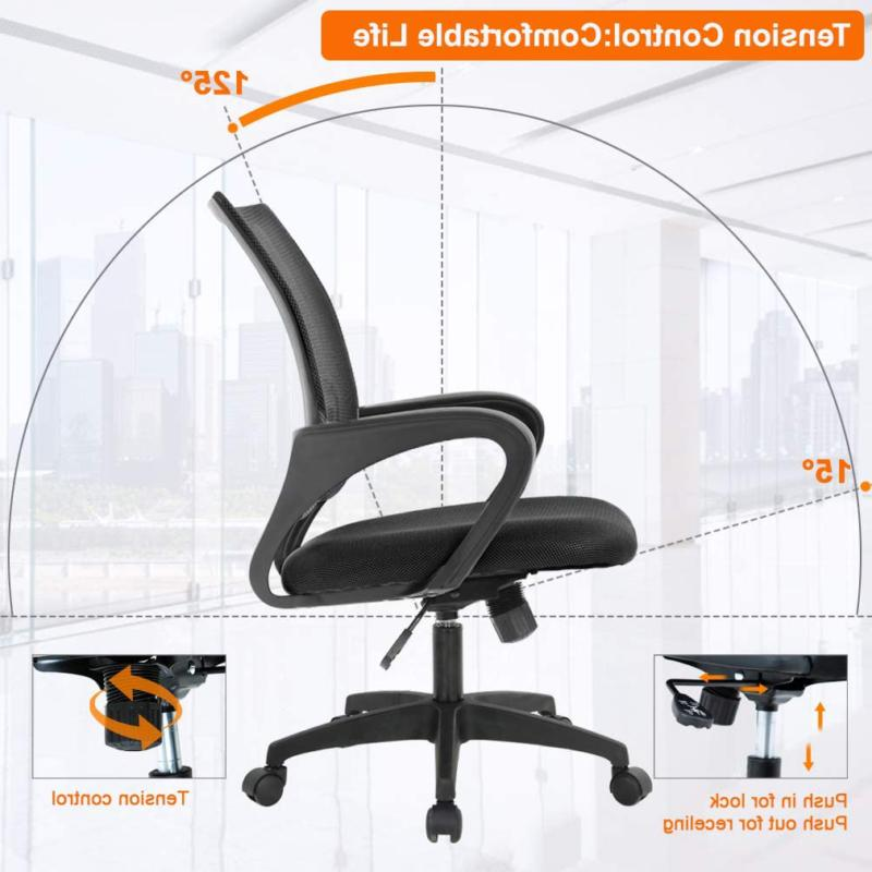 Home Office Desk Mesh Chair with A