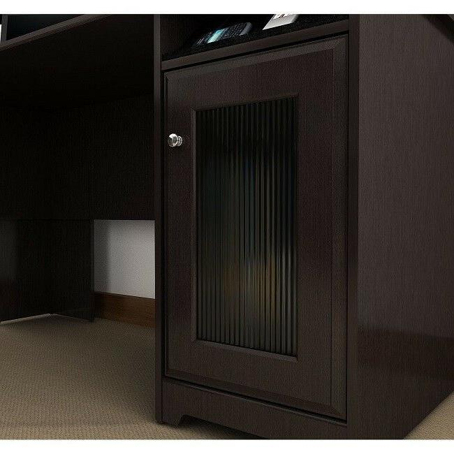 Home Office L Shape File Storage Brown