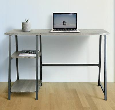 home office computer desk with shelves