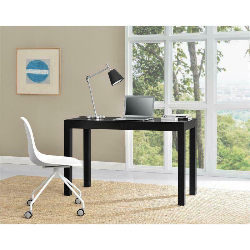 Home Office Modern Parsons with 2 Drawers,