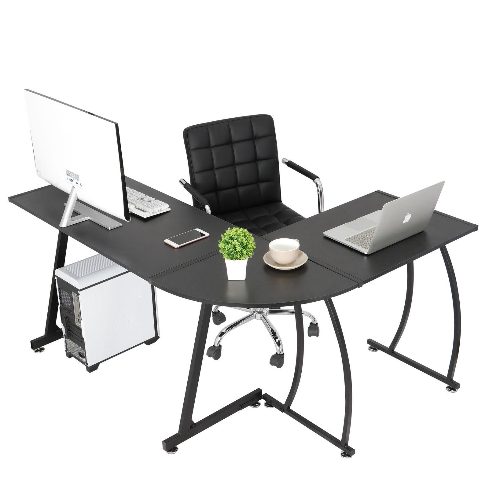 L-Shaped Corner Gaming Desk PC Writting Table Office