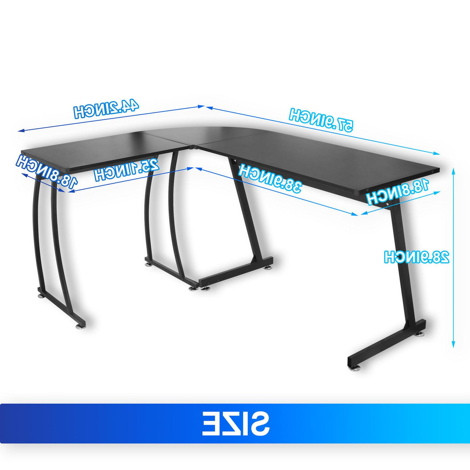 L-Shaped Computer Gaming Writting Table