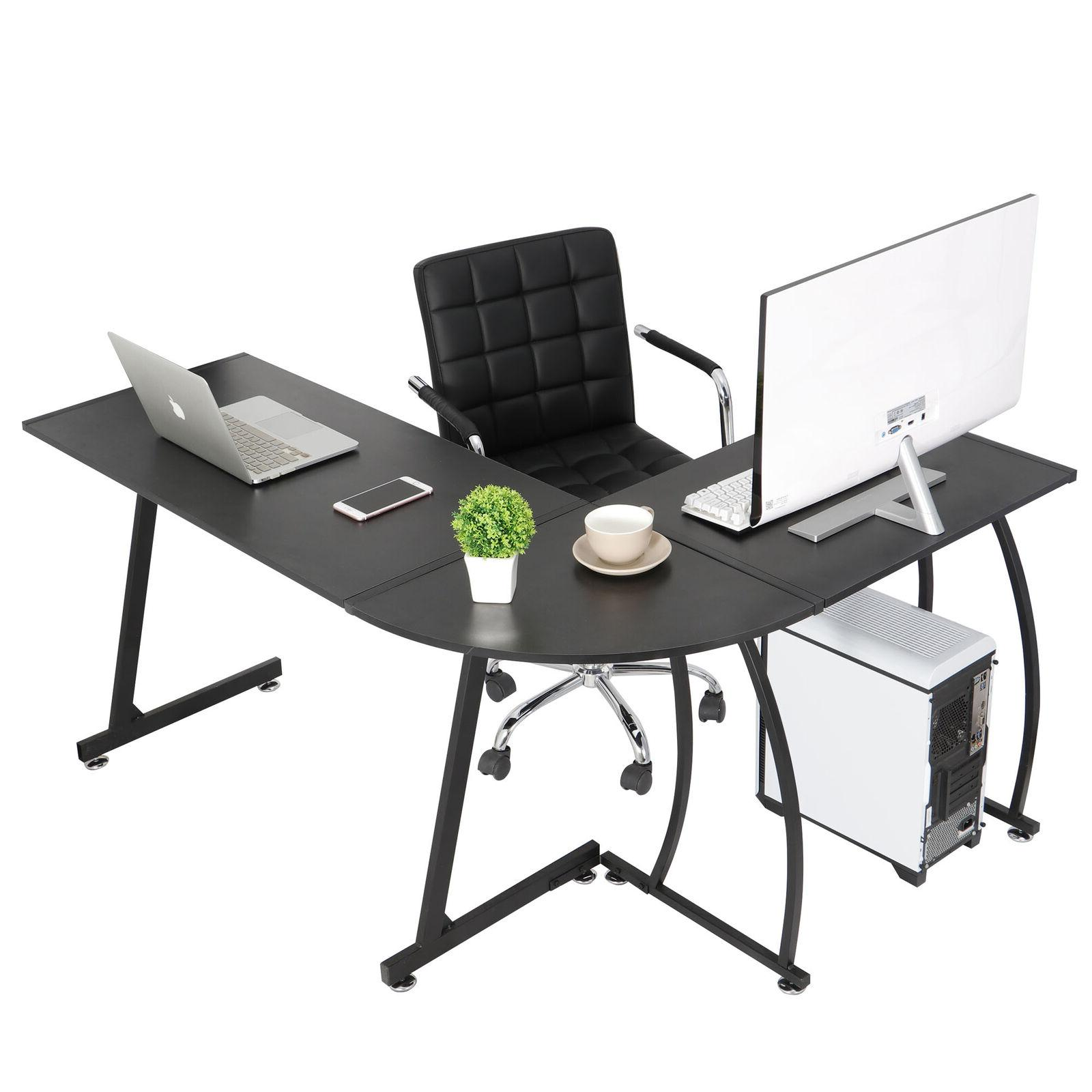 L-Shaped Computer Gaming Desk PC Table Writting Table