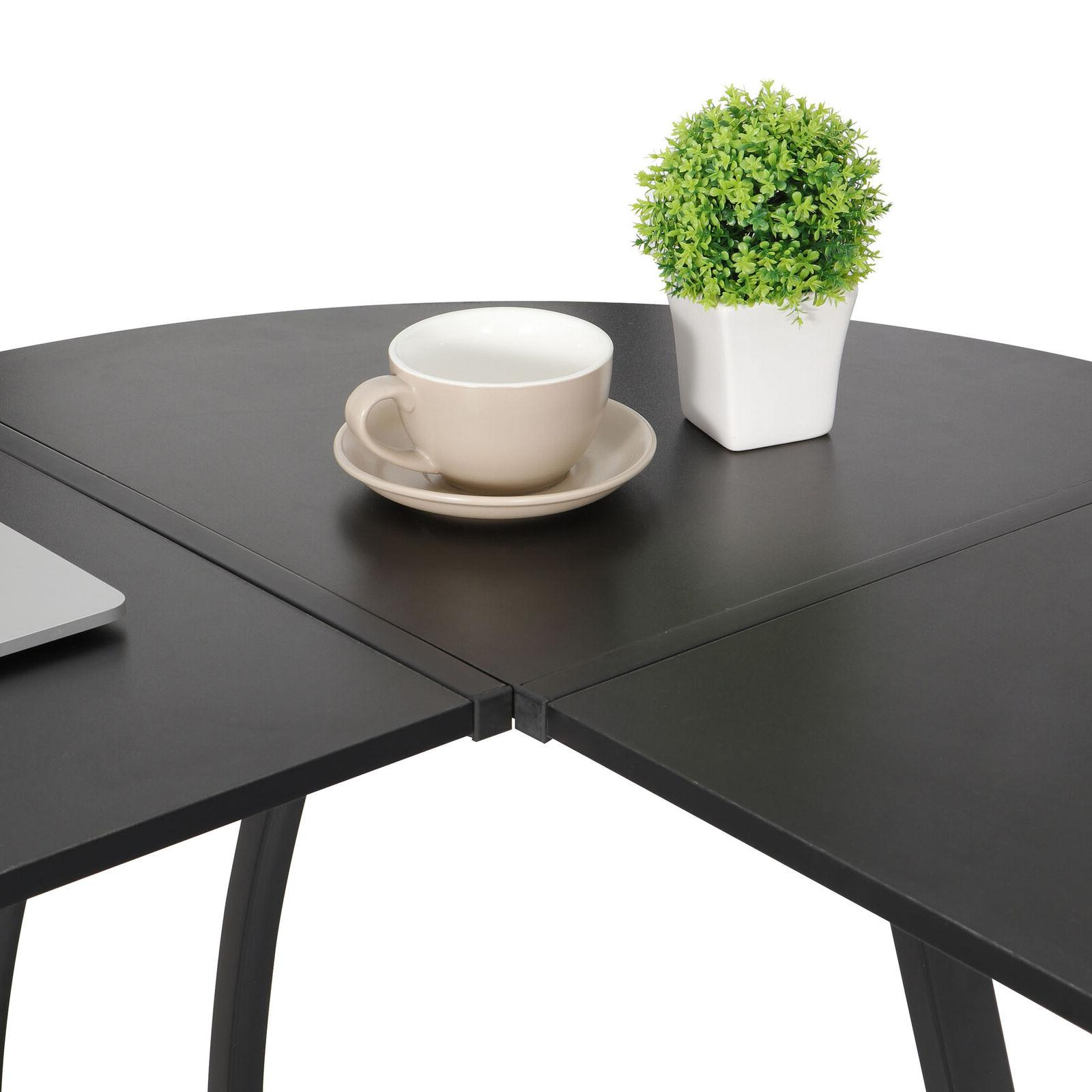 L-Shaped Corner Desk Gaming Table Writting Table Home