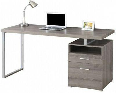 monarch 60 inch computer desk with filing