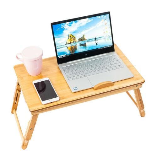 Bamboo Computer Notebook Table Bed Desk