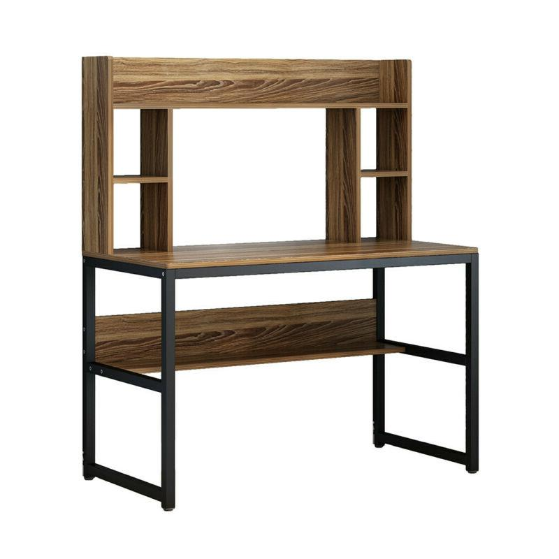 """47"""" Modern Computer Desk Writing Table With Hutch Home"""