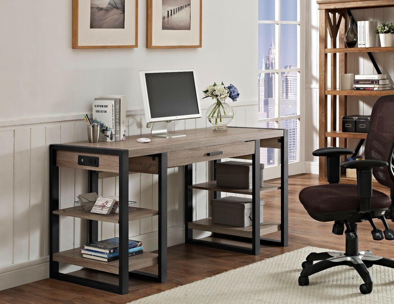 New Home Office Inch in Driftwood Finish