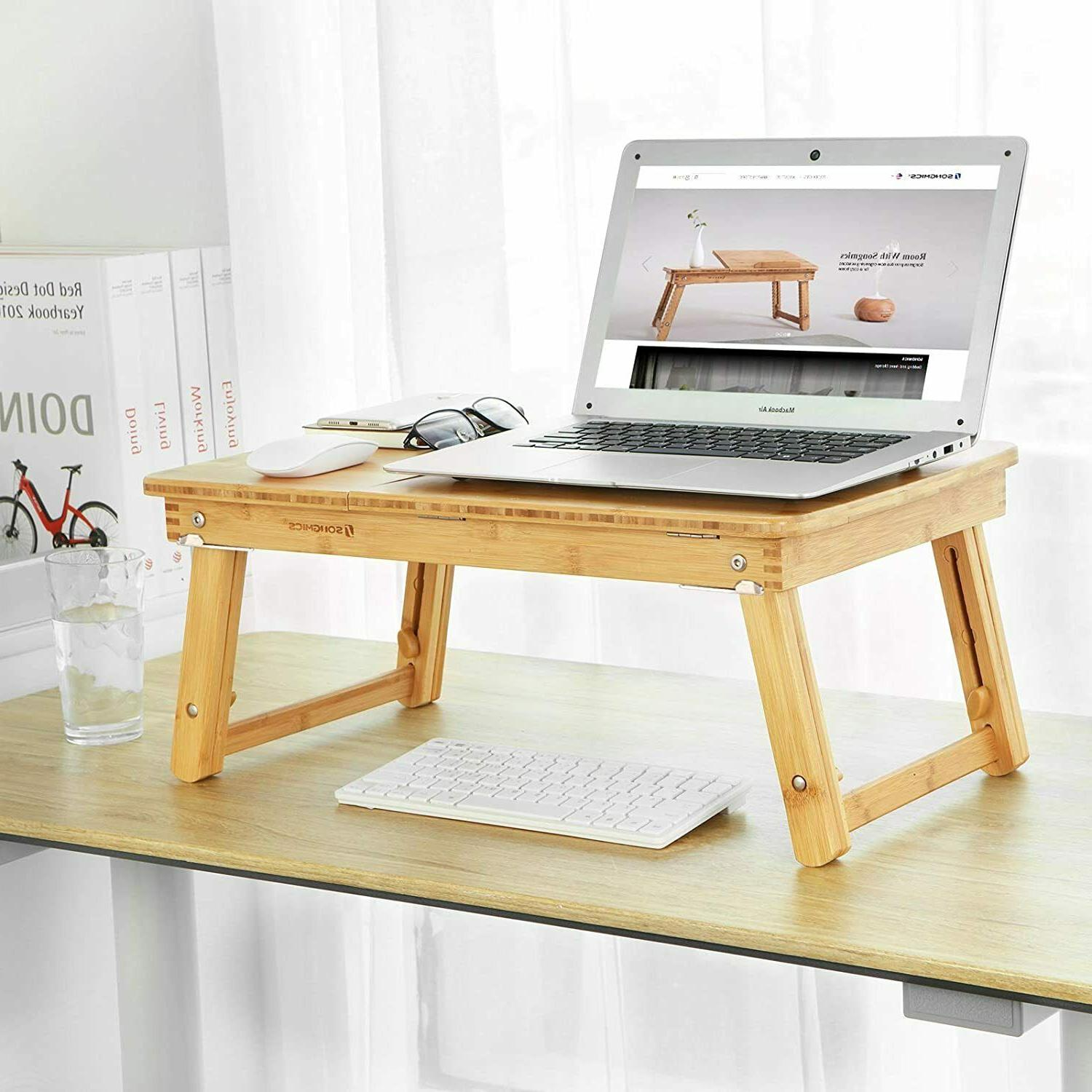 Portable Foldable Table Adjustable Stand Tray computer