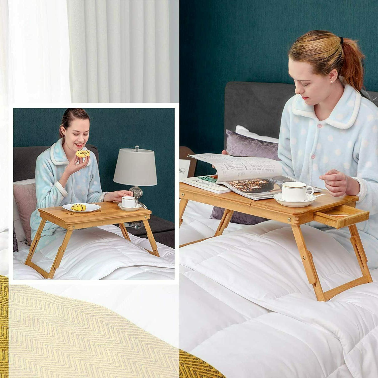 Portable Foldable Laptop Table Adjustable Tray computer