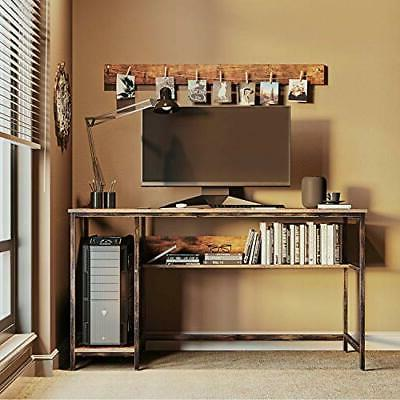Rustic Style Computer Home Office 2 Shelves