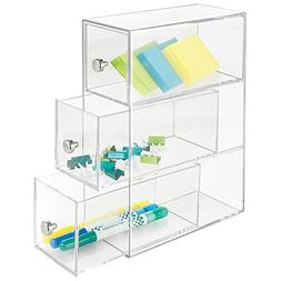 mDesign Office Supplies Desk Organizer for Paper Clips, Stic