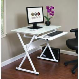OneSpace 50-JN1201 Ultramodern Glass Computer Desk with Pull