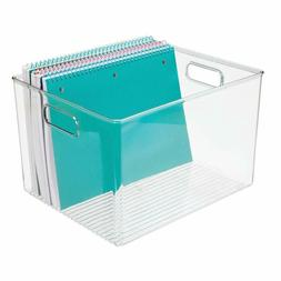 Mdesign Plastic Storage Container Bin With Carrying Handles