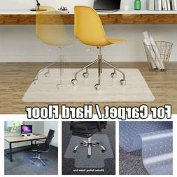 PVC Home Office Chair Mat for Carpet / Hard Floor Protection