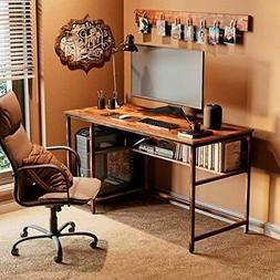 Rustic Style Computer Desk Home Office Desk with 2 Storage S