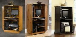SPACE SAVING HOME OFFICE COMPUTER DESK ARMOIRE/CABINET - MUL