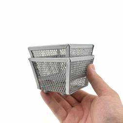 """HAHIYO Stackable Paper Clip Mesh Holder Cup 2.2"""" Height 2 Pa"""