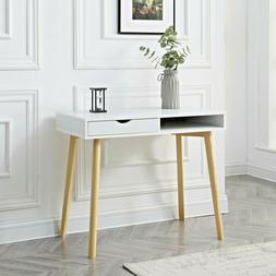 White Computer Writing Desk Student Office Table Laptop Work